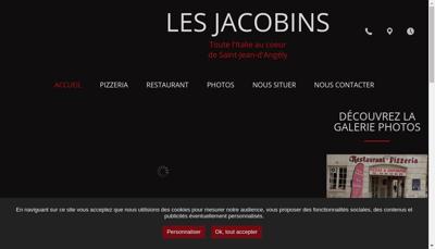 Capture d'écran du site de Restaurant les Jacobins
