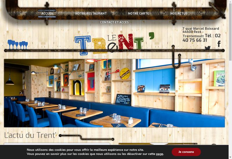 Capture d'écran du site de La Cantine du General