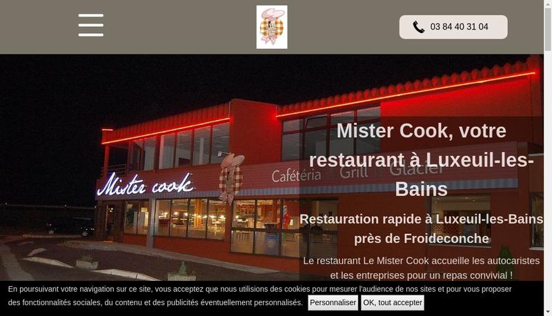 Capture d'écran du site de Mister Cook