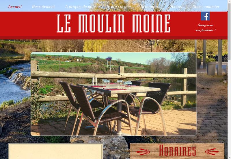 Capture d'écran du site de Le Moulin Moine