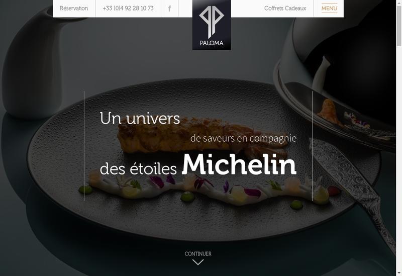 Capture d'écran du site de Paloma