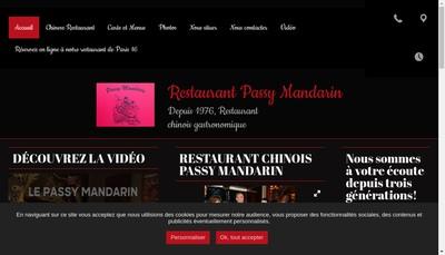 Site internet de Passy Mandarin