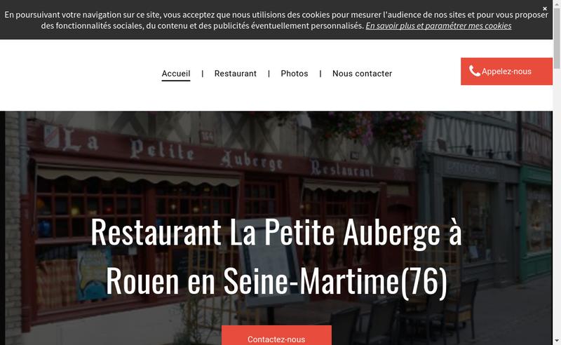 Capture d'écran du site de La Petite Auberge