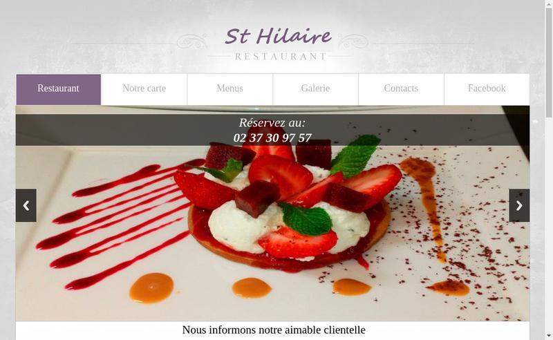 Capture d'écran du site de Restaurant le Saint Hilaire