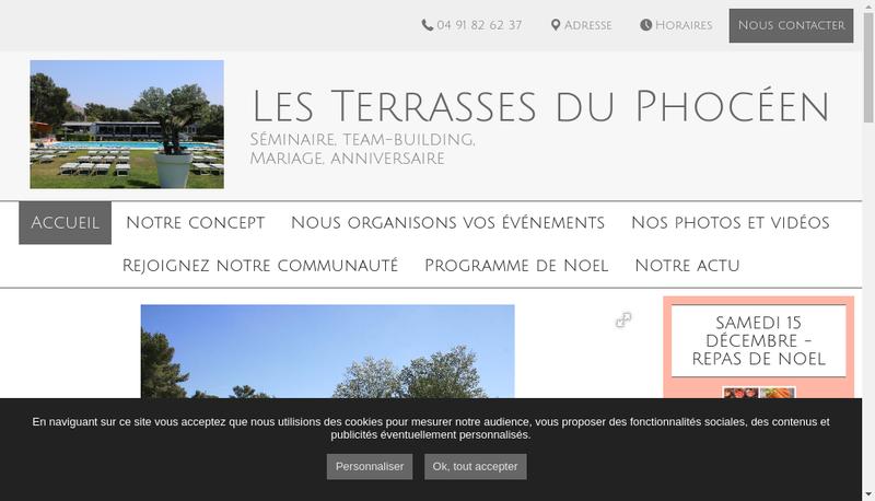 Capture d'écran du site de Les Terrasses du Phoceen