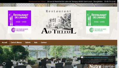 Capture d'écran du site de Restaurant au Tilleul