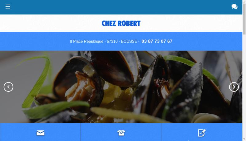 Capture d'écran du site de Chez Robert