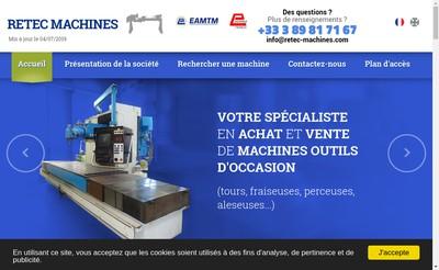 Site internet de Retec Machines
