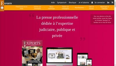 Site internet de Revue Experts