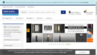 Capture d'écran du site de Rexel France