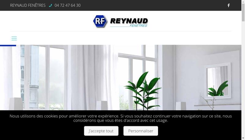 Capture d'écran du site de Reynaud Fenetres