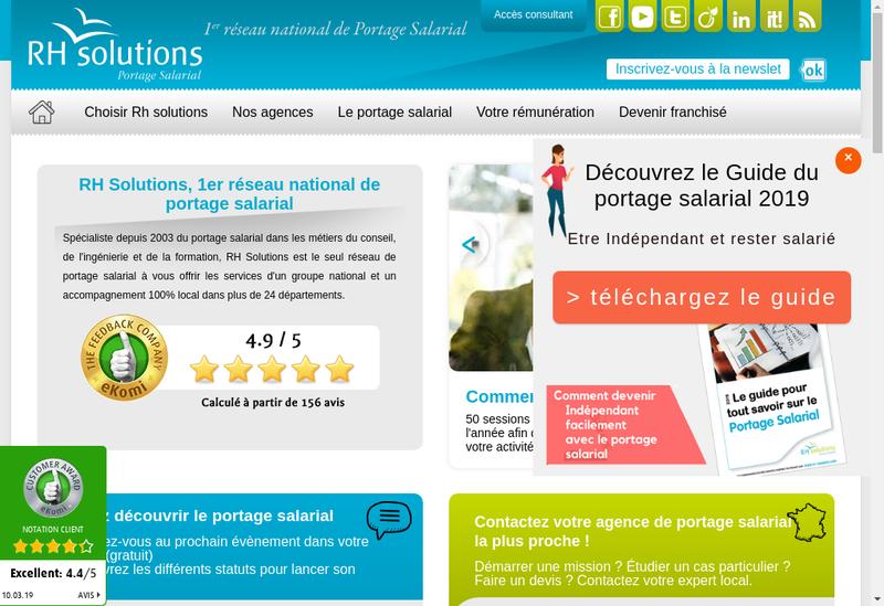 Capture d'écran du site de Triosphere