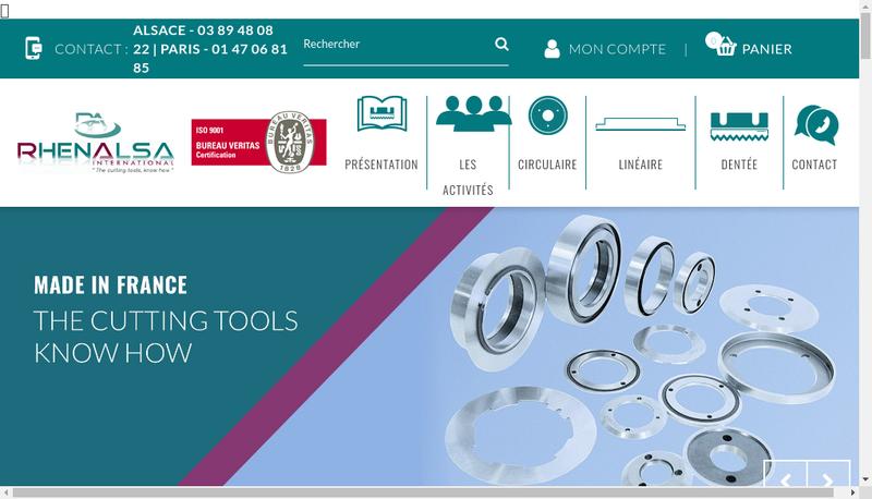 Capture d'écran du site de Rhenalsa
