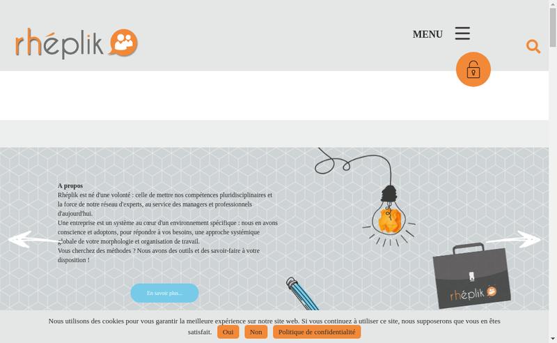 Capture d'écran du site de Rheplik