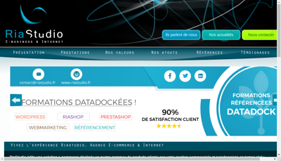 Capture d'écran du site de Riastudio