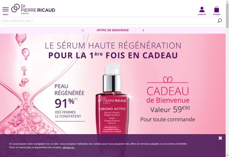 Capture d'écran du site de Dr Pierre Ricaud - Id Parfums - Daniel
