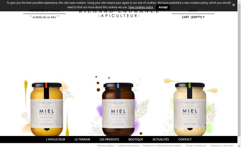 Capture d'écran du site de Les Ruchers de Belle-Ile