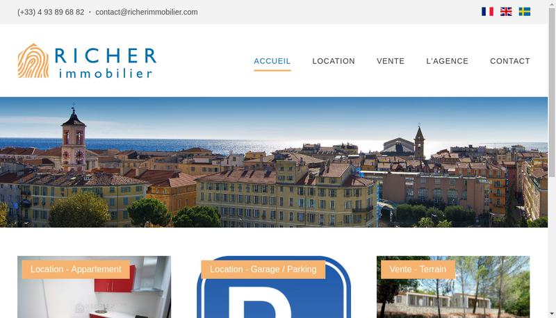 Capture d'écran du site de Richer Immobilier