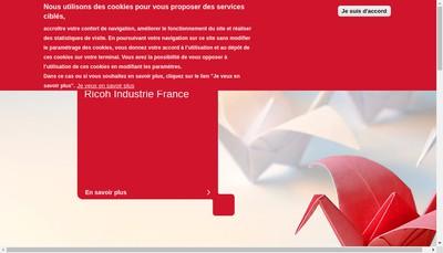Site internet de Ricoh Industrie France
