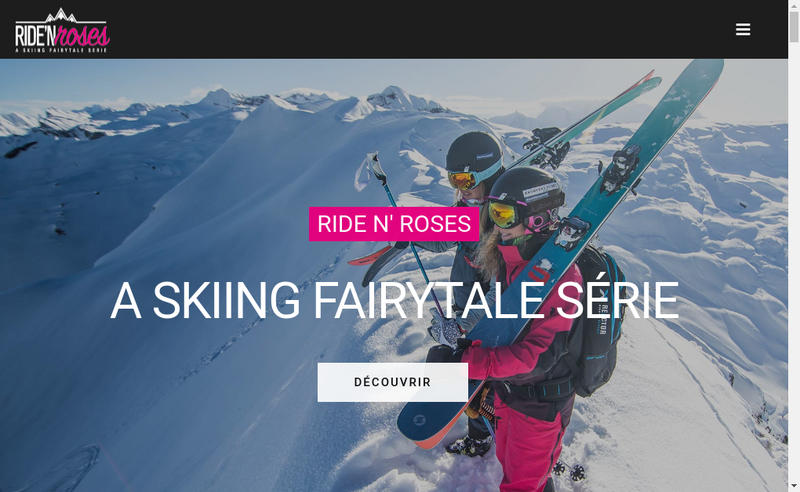 Capture d'écran du site de Ride N'Roses