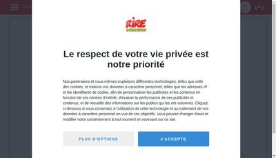 Site internet de Rire et Chansons