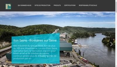 Site internet de Riva Acier
