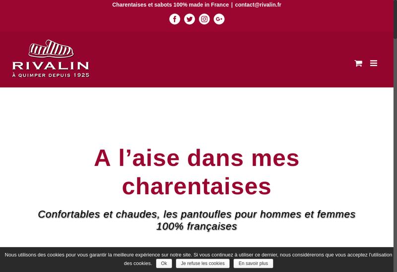Capture d'écran du site de Societe Rivalin