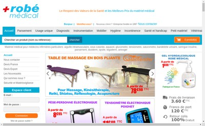 Site internet de Robe Developpement
