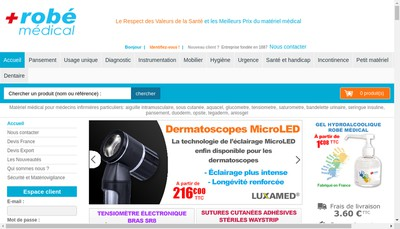 Site internet de Robe Medical