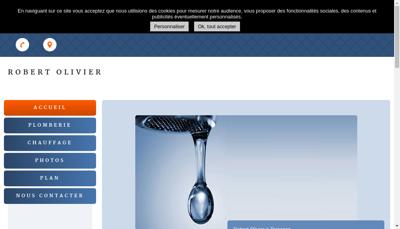 Capture d'écran du site de Robert Olivier