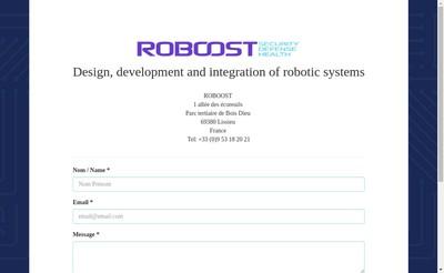 Site internet de Roboost