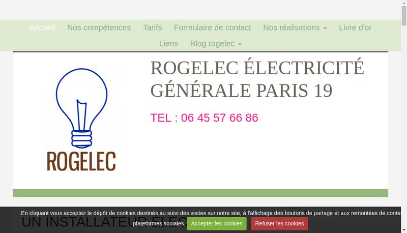Capture d'écran du site de Rogelec