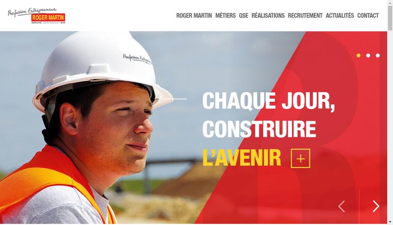 Capture d'écran du site de SA Roger Martin