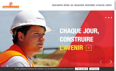 Site internet de SA Roger Martin