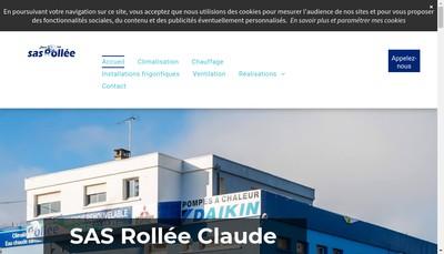 Site internet de SAS Rollee Claude
