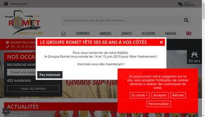 Site internet de SARL Groupe Romet