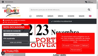 Site internet de SAS Romet 53 - SAS Romet 72 - SAS Romet 61