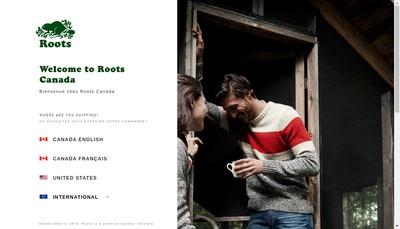 Site internet de Roots