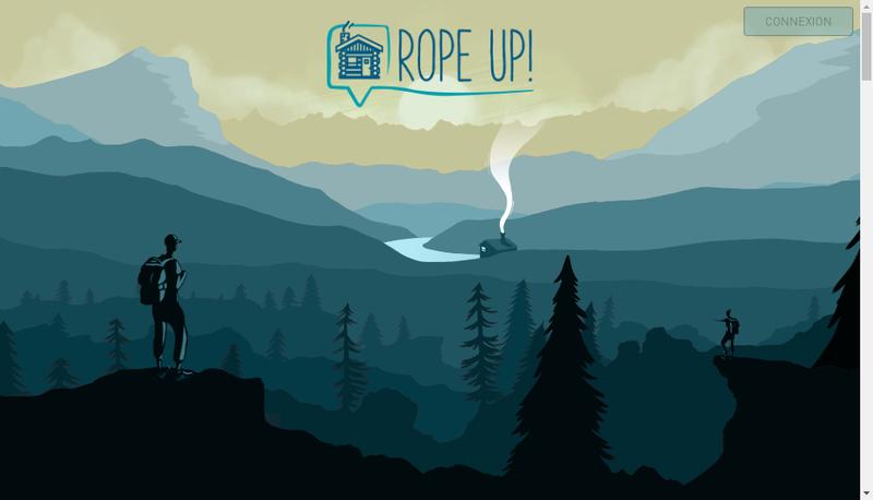 Capture d'écran du site de Rope Up !