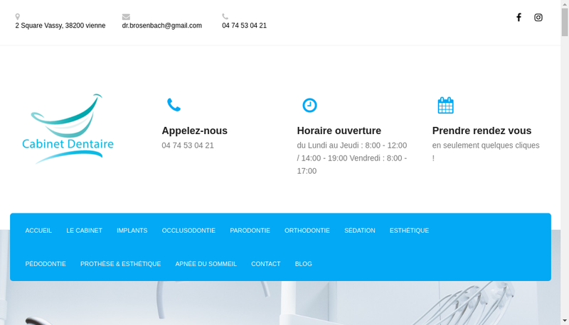Capture d'écran du site de Benjamin Rosenbach