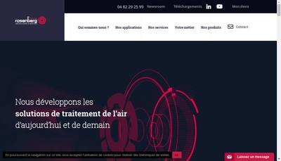 Site internet de Rosenberg France
