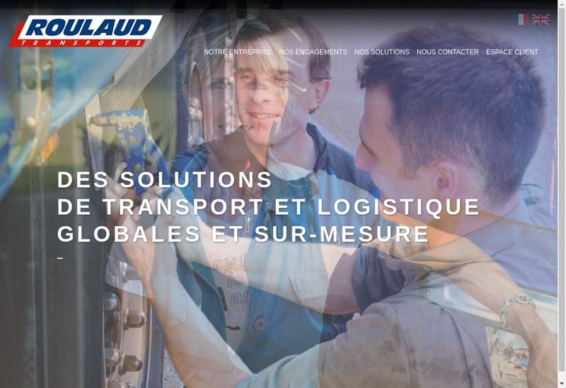 Capture d'écran du site de Roulaud Transports