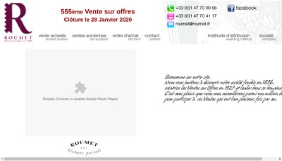 Site internet de Roumet SARL