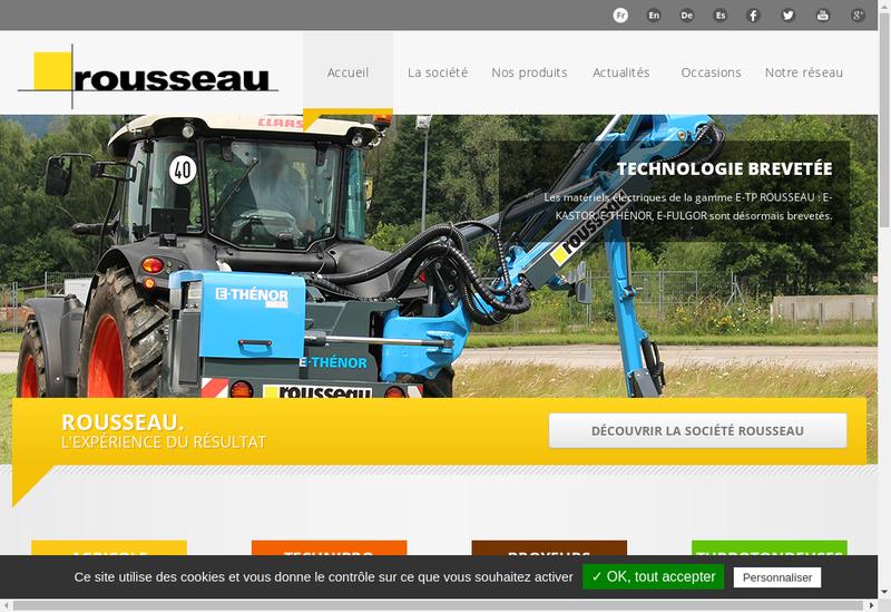 Capture d'écran du site de Rousseau