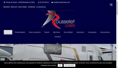 Site internet de Rousselet Loisirs