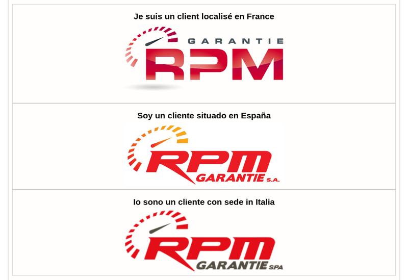 Capture d'écran du site de Rpm Garantie