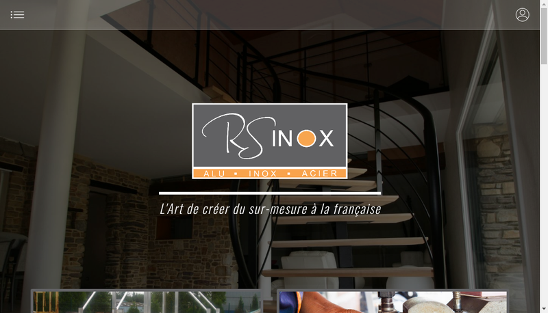 Capture d'écran du site de Rs Inox