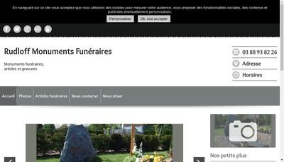 Site internet de Monuments Funeraires Francois Rudloff