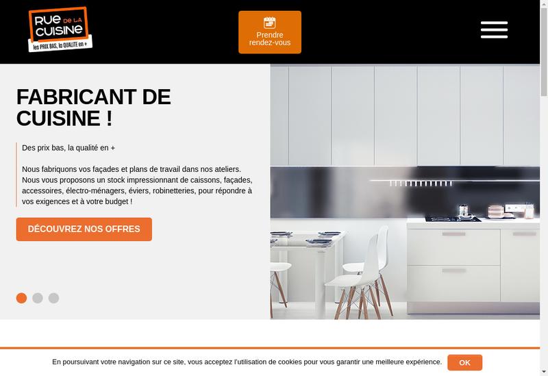 Capture d'écran du site de Rue de la Cuisine