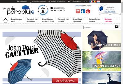 Site internet de Rue du Parapluie